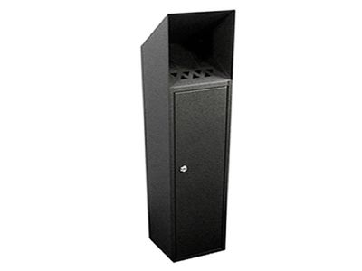 floor mounted cigarette bin 014